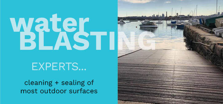 Water Blasting experts for cleaning and sealing most outdoor surfaces